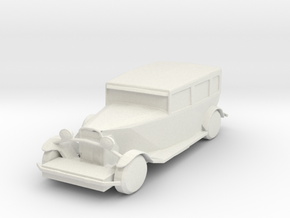 O Scale Packard in White Natural Versatile Plastic