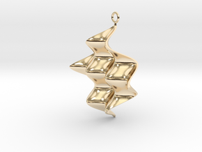 Sine Wave product Earring with sine edges. in 14k Gold Plated Brass