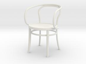 Thonet Final Arm Chair1-12REP in White Natural Versatile Plastic