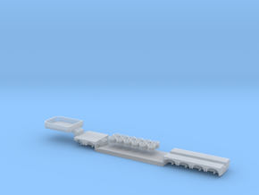 1:160/N-Scale 2+4 Axle Low Loader in Smooth Fine Detail Plastic