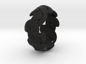 B&G Bracelet 01 in Black Natural Versatile Plastic
