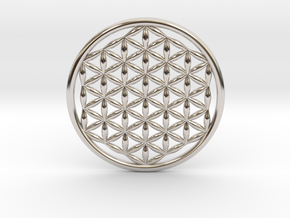 "Flower Of Life (no bale) 1.4""  in Platinum"