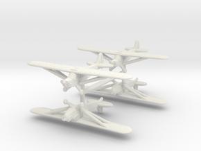 1/350 Piper L-4 (x4) in White Natural Versatile Plastic