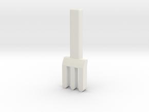 fork in White Natural Versatile Plastic