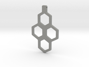 Honeycomb Necklace-35 in Gray Professional Plastic