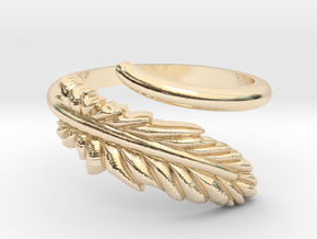 Feather Ring in 14K Yellow Gold