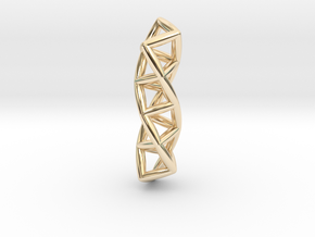 Four Membered Rings Helix in 14K Yellow Gold