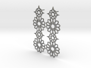 Mudejar Silver Earrings in Natural Silver