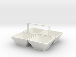 Snack box in White Natural Versatile Plastic