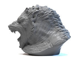 Werewolf bust in Smooth Fine Detail Plastic