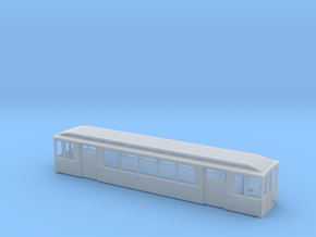 U-Bahn Berlin Typ A1 Beiwagen H0, 5 Fenster, 1:87 in Smooth Fine Detail Plastic