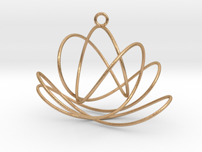 3D Spirograph projection erring 7 loops in Natural Bronze