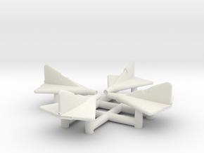 (1:350)(x4) Lippisch Li P.13a in White Natural Versatile Plastic