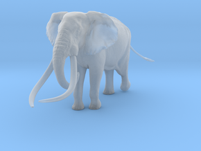 African Bush Elephant 1:35 Giant Bull in Smooth Fine Detail Plastic