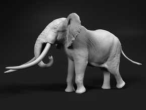 African Bush Elephant 1:35 Giant Bull in White Natural Versatile Plastic