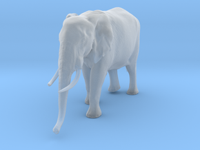 African Bush Elephant 1:45 Walking Female in Smooth Fine Detail Plastic