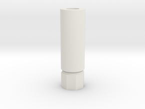 Pistol Silencer ccw 14mm in White Natural Versatile Plastic