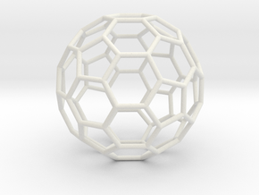 Goldberg polyhedron GP(2, 0) in White Natural Versatile Plastic: Medium