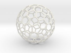 Goldberg polyhedron GP(3, 0) in White Natural Versatile Plastic: Large