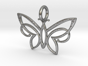 KAP crust winged Butterfly in Natural Silver