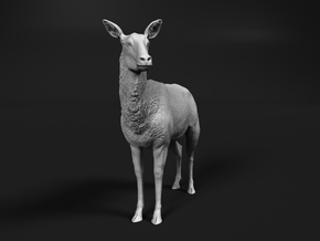 Waterbuck 1:20 Standing Female in White Natural Versatile Plastic