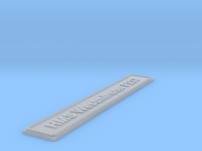 Nameplate HMS Westminster F237 in Smoothest Fine Detail Plastic