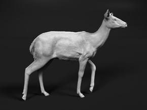 Nyala 1:12 Walking Female in White Natural Versatile Plastic