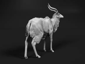 Nyala 1:25 Standing Male in White Natural Versatile Plastic