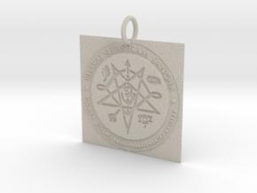 Creator Pendant in Natural Sandstone: Extra Small