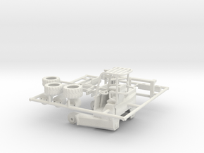 1/64th Moffett type forklift for flatbed in White Natural Versatile Plastic