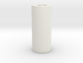3mm shaft adaptor in White Natural Versatile Plastic