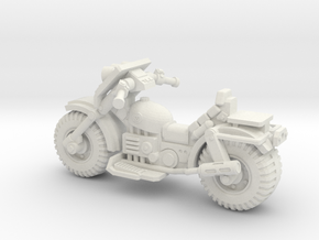 28mm Astro bike (low) in White Natural Versatile Plastic