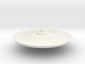 2500 TOS Saucer v2 in White Natural Versatile Plastic