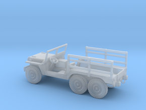 1/87 Scale 6x6 Jeep Cargo in Smooth Fine Detail Plastic
