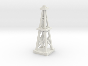 3inch Oil Derrick in White Natural Versatile Plastic