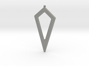 Geometric Necklace-44 in Gray Professional Plastic