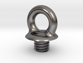Micro SD Ball - Loop Screw in Polished Nickel Steel