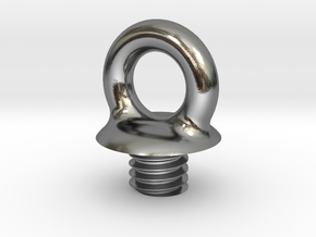 Micro SD Ball - Loop Screw in Polished Silver