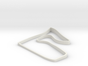 Red Bull Ring 3D with elevation in White Natural Versatile Plastic