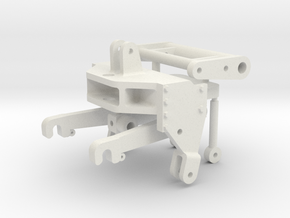 Wiking John Deere Fronthydraulik in White Natural Versatile Plastic
