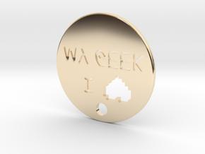 I love my geek pendant in 14K Yellow Gold