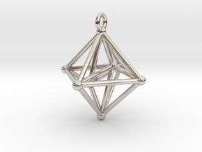 Hyperoctahedron Pendant in Rhodium Plated Brass