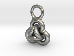 Interlocked Rings earring in Natural Silver (Interlocking Parts)