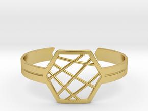 Hex Cuff in Polished Brass