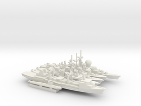 French Carrier Escort Group (1990s), 1/1800 in White Natural Versatile Plastic
