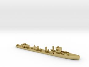 HMS Vega 1:1800 r2 WW2 naval destroyer in Natural Brass