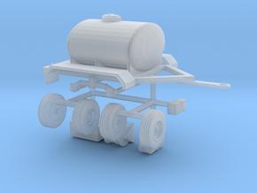 1/160 N Scale water fire fertilizer tanker trailer in Smooth Fine Detail Plastic