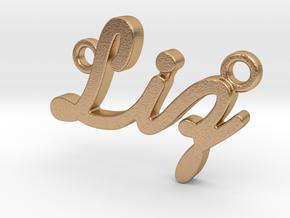 "Custom Name Pendant ""Liz"" in Natural Bronze"