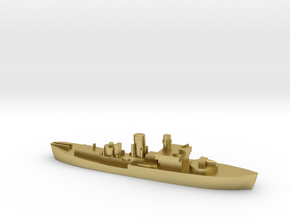 Flower Class corvette 1:3000 GBR WW2 naval in Natural Brass