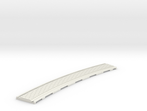 p-165stw-slim-curved-1r-tram-track in White Natural Versatile Plastic
